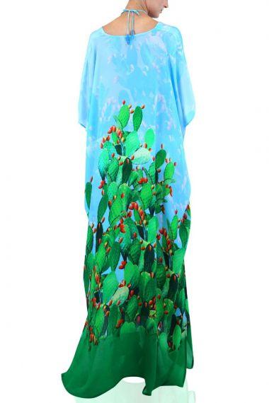 Green-envy-caftan-dress-in-cactus-print