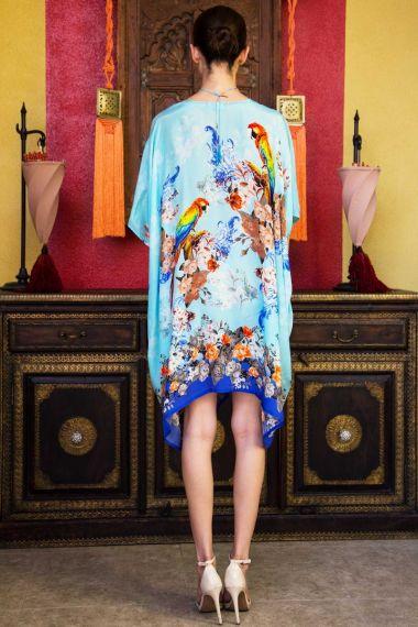 Bird-print-short-caftan-dress-designer-caftan-dresses