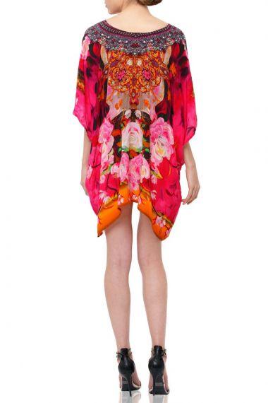 Caftan-dresses-short-silk-caftan-floral-rose-printed-dress