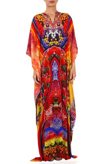 Designer-Caftan-Dress-In-Flower-Print