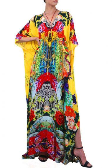 Geisha-Long-Printed-Caftan