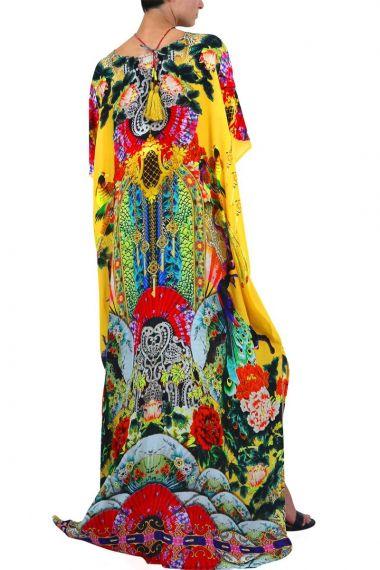 Long-Floral-Print-Designer-Caftan