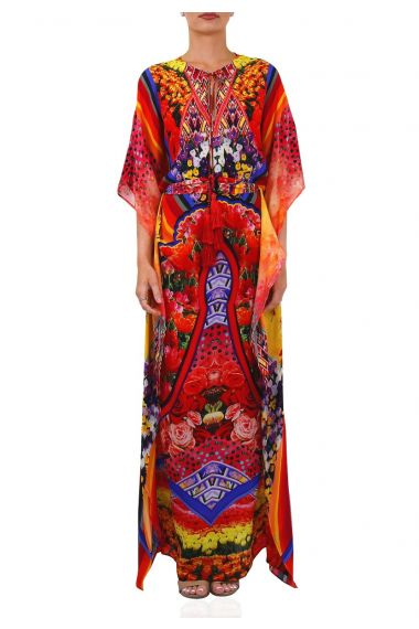 Long-Printed-Caftan-Dress-For-Women