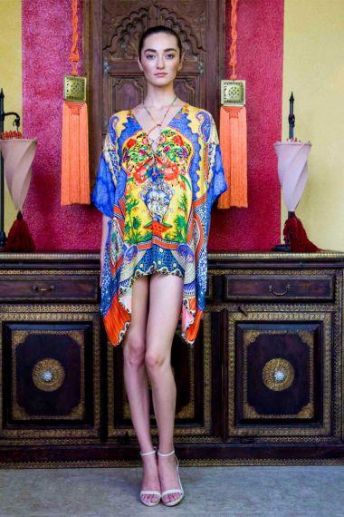 resort-wear-designer-dresses-floral-print-caftan-top