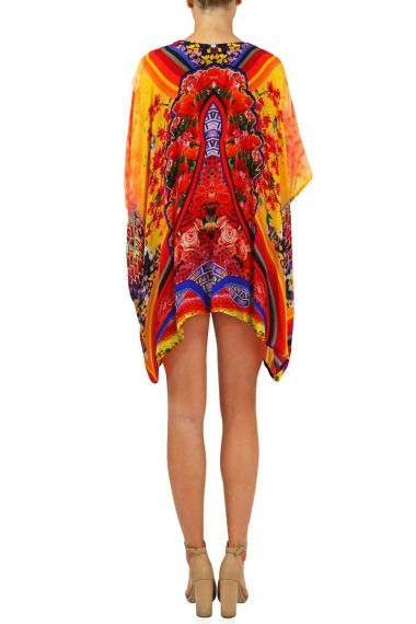 Women-Short-Caftan-In-Floral-Print