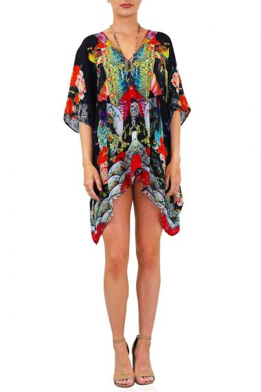 Women-Short-Printed-Luxury-Caftan