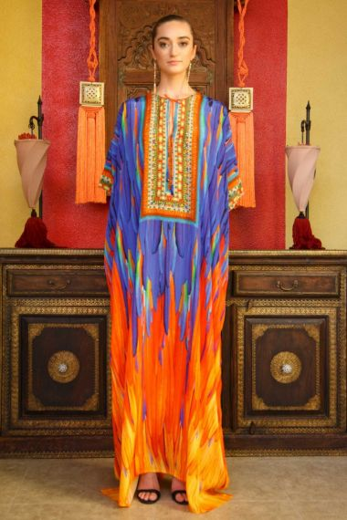 Women-Silk-Printed-Designer-Caftan-Dress